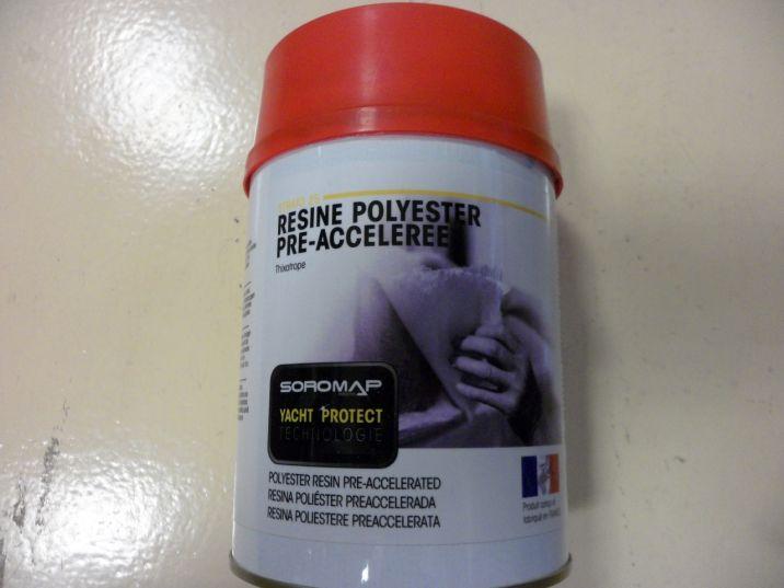 Résine polyester Pré-accélérée thixotrope